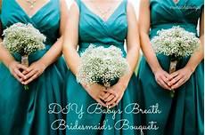 pinch of wedding diy baby s breath bridesmaid s bouquets