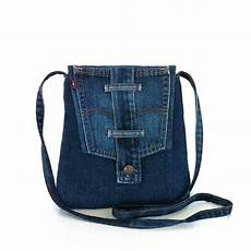 sac en jean recyclé small crossbody bag recycled jean messenger bag travel