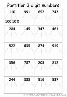 subtraction worksheets partitioning 10224 partition 3 digit numbers worksheet free printables partition 3 digit numbers worksheet number