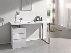 Bureau Design Avec 3 Tiroirs Blanc Laqu 233 En Bois Mdf 130