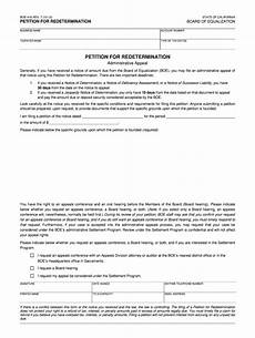 california redetermination fill online printable