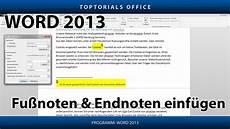 Fu 223 Noten Und Endnoten Hinzuf 252 In Word