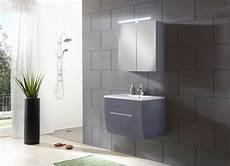 Badezimmermöbel Grau Hochglanz - sam 174 badezimmerm 246 bel zagona 2tlg grau hochglanz 70 cm