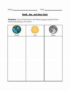 science worksheets earth sun moon 12190 earth sun and moon facts worksheet by paula jett tpt