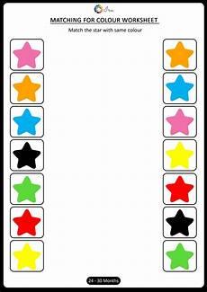 printable matching colors worksheets 24 30 months worksheets for preschool worksheets