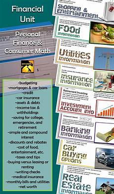 saving money worksheets for highschool students 2184 consumer math personal finance complete unit consumer math finance business education
