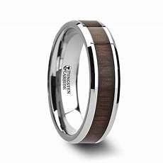 black tungsten carbide mens walnut inlay 8mm beveled wedding band ring m68 ebay newsman tungsten wedding band black walnut inlay and beveled edges 8mm