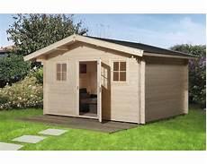 gartenhaus weka mit vordach und fu 223 boden 380x300 cm natur