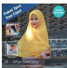 17 Jilbab Instan Sifon Trend Masa Kini