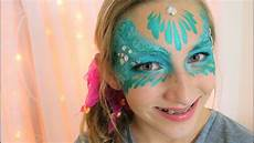 easy mermaid masquerade mask face painting and makeup youtube