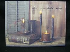 shine your light lighted canvas wall decor sign billy primitive ebay