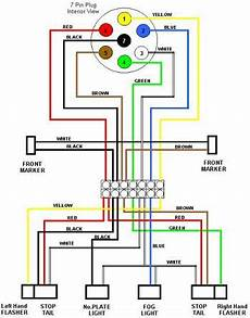 typical 7 way trailer wiring diagram diagrams and tech drawings pinterest trailers