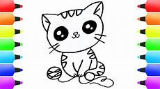 how to draw cat coloring pages for cat