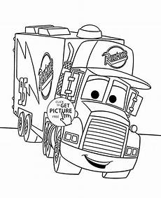 disney cars free colouring pages