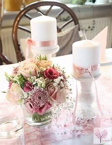 Altrosa Tischdeko Hochzeit Taufe Sizoweb Perlen Blumen