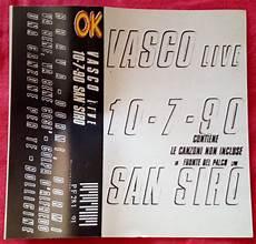 disco vasco vasco vasco live 10 7 90 san siro cassette mini