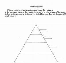 the food pyramid worksheet