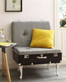 upcycled luggage seats diy suitcase chair