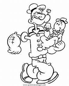 Gratis Malvorlagen Popeye Popeye 17 Gratis Malvorlage In Comic Trickfilmfiguren