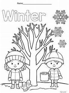 4 seasons coloring pages seasons preschool seasons