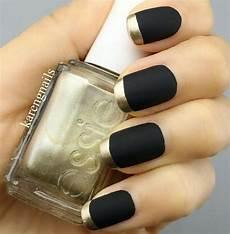 matte black nail a trending look chrome