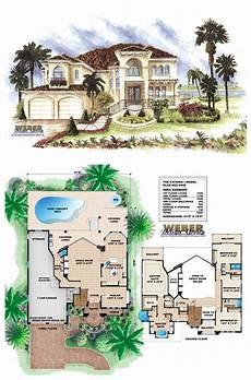 mediterranean house plans with pools mediterranean house plan 2 story luxury home floor plan