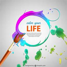 paint brush strokes and brush background vector free
