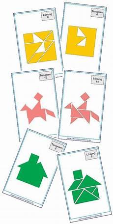 30 tangram vorlagen mit loesungen zaubereinmaleins