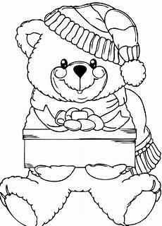 Ausmalbilder Weihnachten Teddy Teddy Happy Coloring Pages Teddy