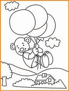 Malvorlage Luftballon Ausdrucken Malvorlage Teddy Mit Luftballon Zum Ausdrucken Kostenlos