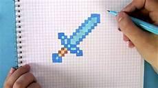 Minecraft Figuren Malvorlagen Wie Zeichnet Einen Minecraft Schwert Pixel