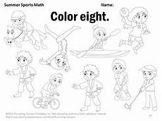 sports worksheets kindergarten 15816 summer sports theme kindergarten counting worksheets coloring pages
