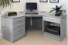 corner desk home office furniture small office corner desk set with 3 1 drawers printer