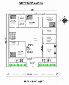 house plan according to vastu shastra 60 x66 6 quot 4bhk south facing house plan as per vastu shastra