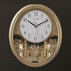 17 quot h modern style melody light controlled wall clock with pendulum 1090654 2017 59 99