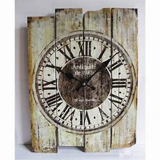 clocks home decor retro antique vintage wood wall clock silent no ticking