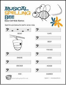 spelling names worksheets 22490 learn note names with our musical spelling bee bass clef note name worksheet digital prin