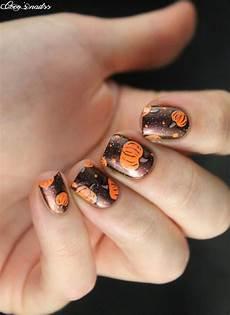fun pumpkin nail designs you will love to copy this fall