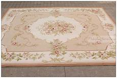 8 X10 Wool Woven Shabby Chic Style Aubusson