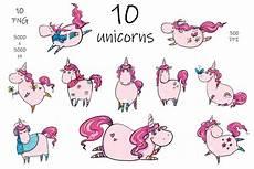 merry christmas unicorn clip art 148505 illustrations design bundles