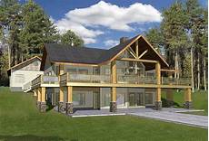 mountainside house plans mountain home with wrap around deck 35427gh