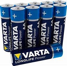 varta longlife power aa mignon batterien batterie test 2020