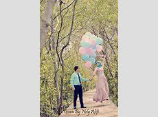 Gaun Bunga Untuk Pre Wedding Photoshoot
