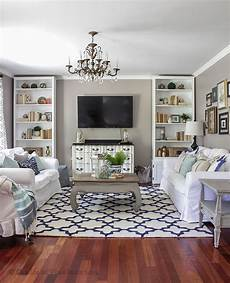 blue white in the living room a rug pad giveaway modern farmhouse living room decor rugs