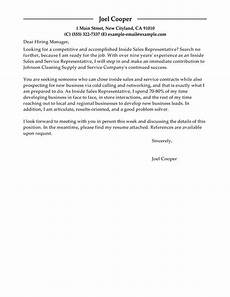 free inside sales cover letter exles templates from trust writing service