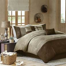 Beautiful Cozy Soft Modern 7 Pc Cabin Brown Taupe