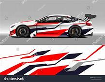 Racing Car Wrap Design Vector Graphic Abstract Stripe
