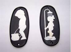 Wc Schild Vintage - vintage bathroom signs wc door plaque plate boys