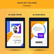 office staff or office employee id card template vector