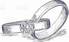 wedding rings sketch stock illustration download image